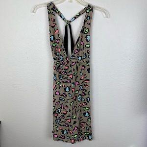 Maria Bonita Phax Leopard Print Swimsuit Coverup M